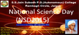 National Science Day 2015